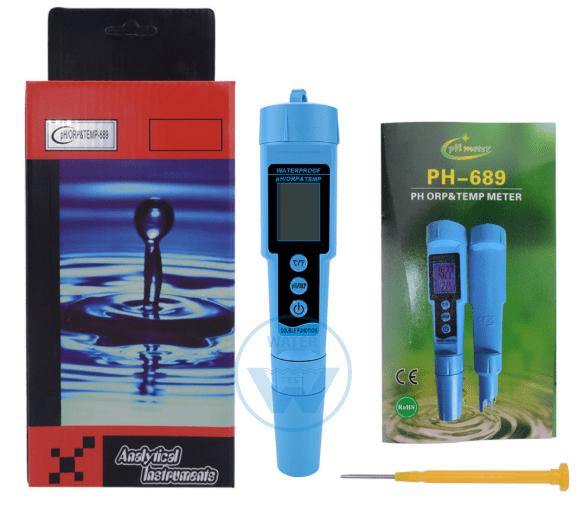 Прибор 3 в 1 (ph метр, ОВП метр, термометр): ph-689